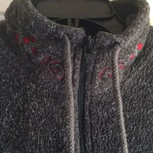 Victoria's Secret Pullover Fleece 1/4 Zip Roses